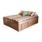 Kuhn Queen Storage Platform Bed Color: Spice Alder