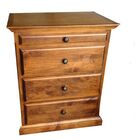 Kurtz 4 Drawer Nightstand Color: Chestnut Oak