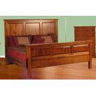 Lacluta King Panel Bed Color: Chestnut Oak