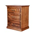 Mullins 3 Drawer Nightstand Color: Red Oak