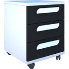 Duffin 3 Drawer Nightstand Color: White/Graphite