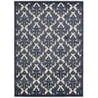 Weissport Ivory/Blue Area Rug Rug Size: Rectangle 3'6