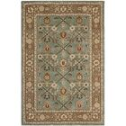 Wayland Hand-Hooked Blue/Taupe Area Rug Rug Size: Rectangle 4' x 6'