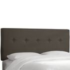 Hornellsville Button Tufted Upholstered Panel Headboard Size: King, Upholstery: Charcoal