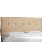 Hornellsville Button Tufted Upholstered Panel Headboard Size: Twin, Upholstery: Oatmeal