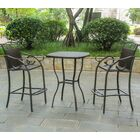Meetinghouse 3 Piece Bar Height Dining Set Finish: Chocolate