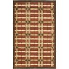Colorweave Plaid Hand-Tufted Rust Area Rug Rug Size: Rectangle 9'6