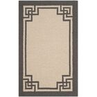 Reedsville Hand-Hooked Ivory/Charcoal Area Rug Rug Size: Rectangle 9' x 12'