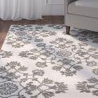 Cream/Gray Indoor/Outdoor Area Rug Rug Size: Rectangle 5'3