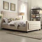 Woodside Upholstered Panel Bed Color: Beige, Size: Full