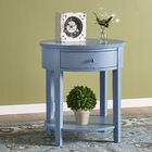 Canterbury End Table with Storage Color: Sky Blue