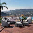 Northridge 8 Piece Sofa Set with Cushions Fabric: Wisteria Lavender
