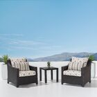 Northridge 3 Piece Sunbrella Conversation Set with Cushions Fabric: Wisteria Lavender