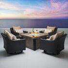 Northridge 5 Piece Conversation Set with Cushions Fabric: Maxim Beige