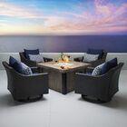 Northridge 5 Piece Conversation Set with Cushions Fabric: Navy Blue