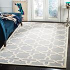 Mclawhorn Hand-Tufted Gray/Ivory Area Rug Rug Size: Rectangle 5' x 8'