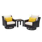 Northridge 3 Piece Sunbrella Conversation Set with Cushions Fabric: Yellow