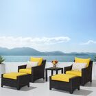 Northridge 5 Piece Conversation Set with Cushions Fabric: Yellow