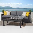 Northridge 2 Piece Sofa Set with Cushions Fabric: Yellow