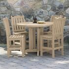 Cassell 5 Piece Dining Set Color: Tuscan Taupe
