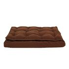 Luxury Pillow Top Mattress Pet Bed in Chocolate Size: Medium