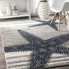 Gray/Blue Area Rug Rug Size: Rectangle 8' 2