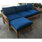 Malibu Teak Patio Sofa with Sunbrella Cushions Fabric: Tuscan