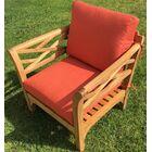 Malibu 6 Piece Teak Sofa Seating Group with Sunbrella Cushions Fabric: Echo Sangria