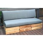 Seaside 5 Piece Teak Sunbrella Sofa Set with Cushions Fabric: Tuscan