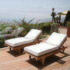 Jaya Reclining Teak Chaise Lounge Set with Cushion