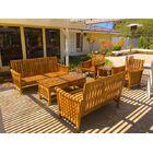 Teak 6 Piece Sunbrella Sofa Set with Cushions Fabric: Granite