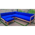 Manhattan 4 Piece Teak Sunbrella Sectional Set with Cushions Fabric: Terra Cotta