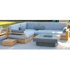 Bale 3 Piece Teak Sunbrella Sectional Set with Cushions Fabric: Charcoal