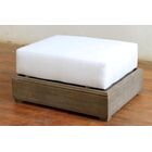 Constance Teak Outdoor Ottoman with Cushion Color: Natural