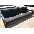 Yandell Teak Outdoor Sofa with Cushions Fabric: Grendine