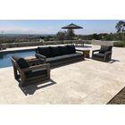 Yandell 3 Piece Teak Sofa Seating Group with Sunbrella Cushions Cushion Color: Sand