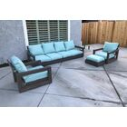 Yandell 4 Piece Teak Sofa Set with Sunbrella Cushions Cushion Color: Peacock