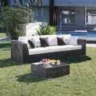 Soho Patio Sofa with Sunbrella Cushions Color: Canvas Spa