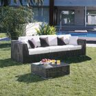 Soho Patio Sofa with Sunbrella Cushions Color: Canvas Black