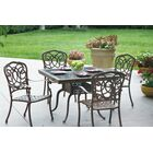 Dolby 5 Piece Dining Set with Cushions Color: Mocha