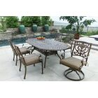 Palazzo Sasso 7 Piece Dining Set with Cushions Color: Mocha
