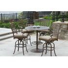 Palazzo Sasso 5 Piece Bar Height Dining Set with Cushions Color: Mocha
