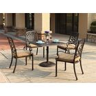 Palazzo Sasso 5 Piece Square Dining Set with Cushions Color: Antique Bronze