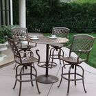 Thompson 5 Piece Bar Height Dining Set with Cushions Finish: Mocha
