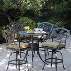 Thompsontown 5 Piece Bar Height Dining Set with Cushions