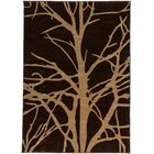 Ruby Tree Branches Contemporary Rug Rug Size: Rectangle 7'10