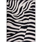 Emeline Zebra Black/Tan Area Rug Rug Size: 8'2