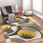 Yolo Gold/Gray Area Rug Rug Size: Rectangle 5'3