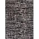 Honaye Modern Geo Lines Black/White Area Rug Rug Size: 5'3