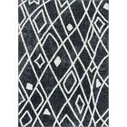 Honaye Modern Artisan Dark Gray/White Area Rug Rug Size: 5'3